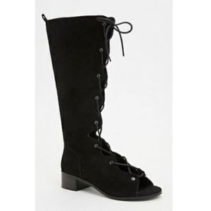 Torrid | Black Suede Lace Up Boots